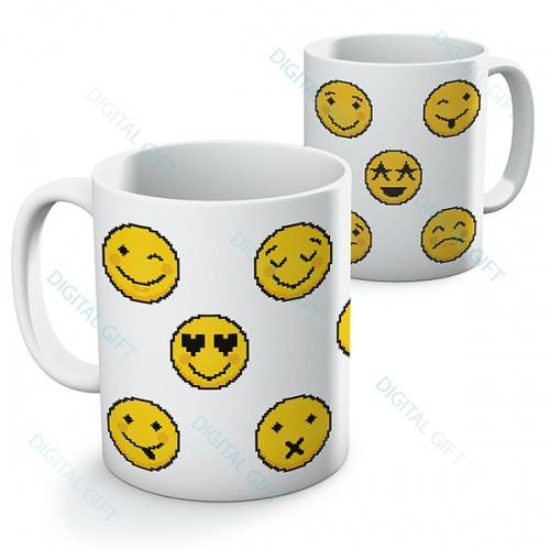 Cană ceramică - Emoji pixel [0]