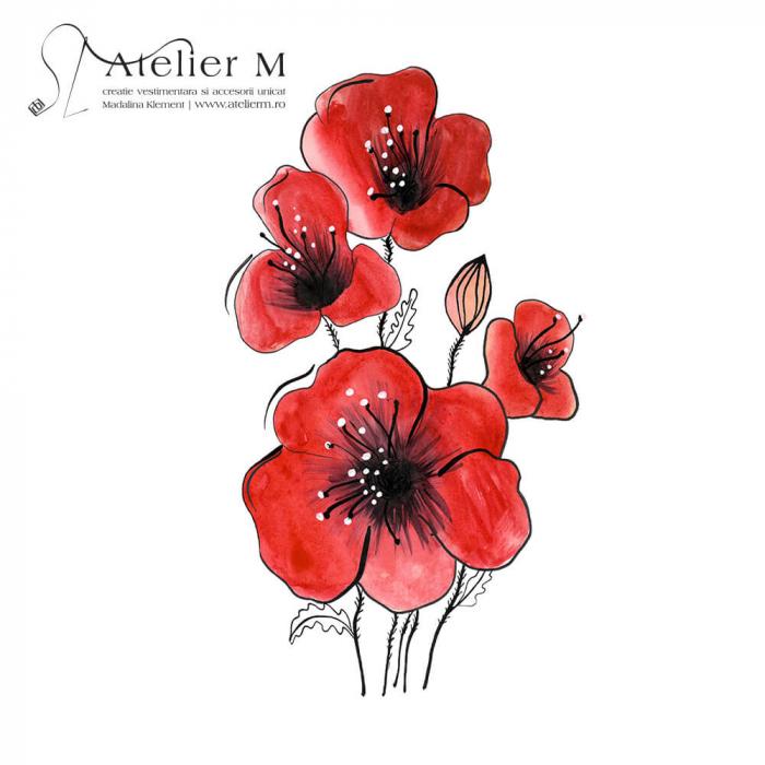 Cană ceramică - Flori de mac [1]