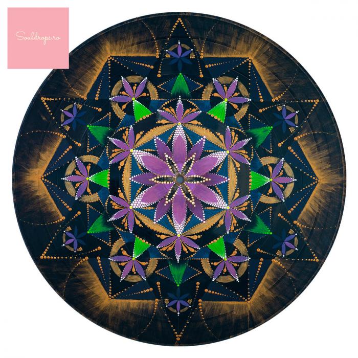 """Cană ceramică - Mandala """"Conștiința extinsă"""" #02 [1]"""