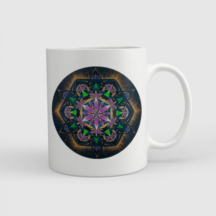 """Cană ceramică - Mandala """"Conștiința extinsă"""" #02 [0]"""