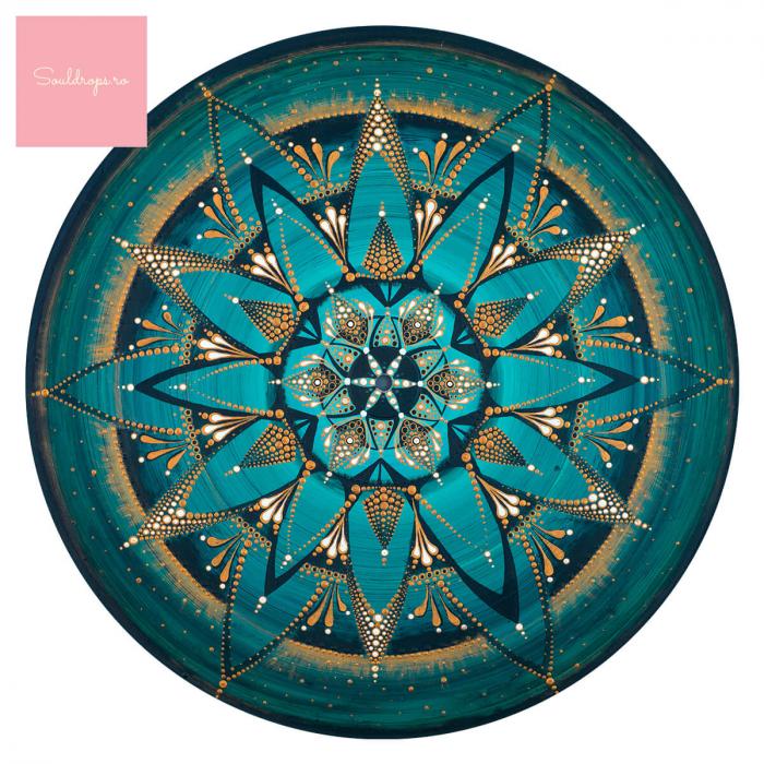 """Cană ceramică - Mandala """"Despre adevăr"""" #02 [1]"""