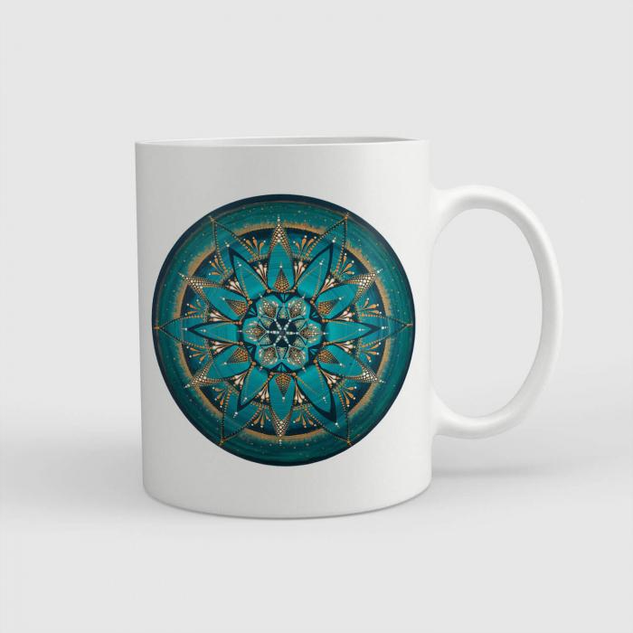 """Cană ceramică - Mandala """"Despre adevăr"""" #02 [0]"""