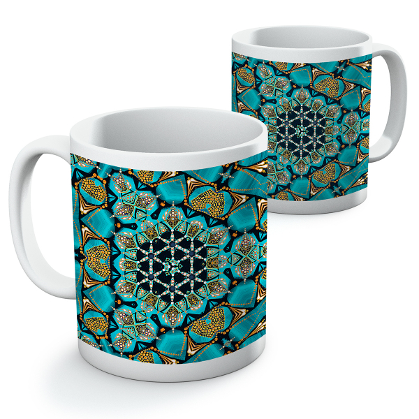 """Cană ceramică - Mandala """"Despre adevăr"""" 0"""