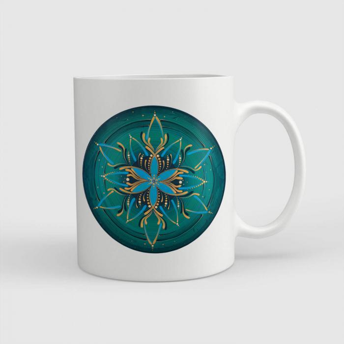 "Cană ceramică - Mandala Vishuddha"" [0]"