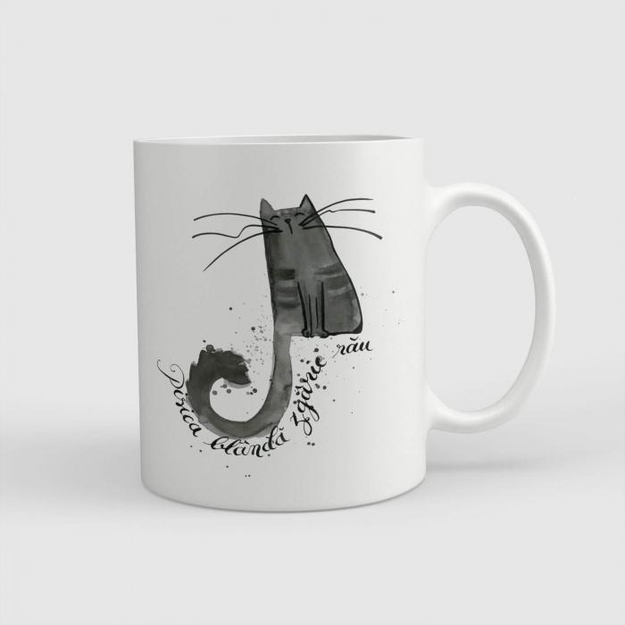 Cană ceramică - Pisica blândă zgârie rău [0]