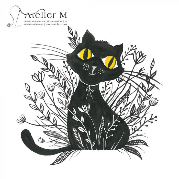 Cană ceramică - Pisica neagră [1]