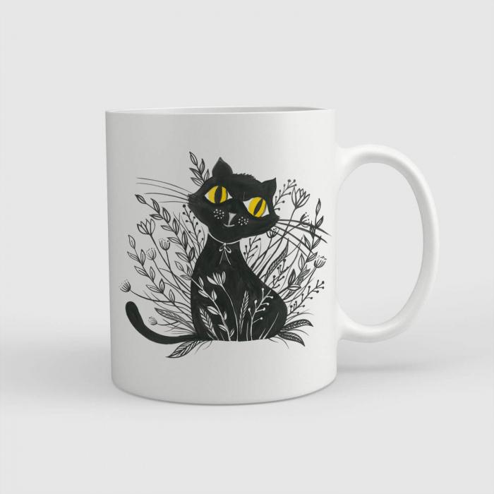 Cană ceramică - Pisica neagră [0]