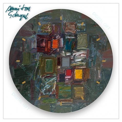 Ceas de perete - Abstract, amalgam multicolor 1