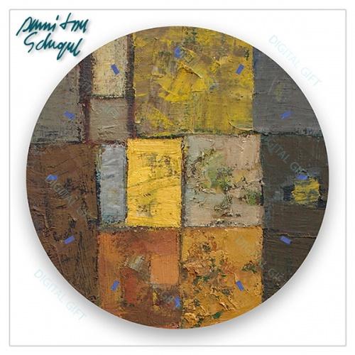 Ceas de perete - Abstract, labirint cu verde 2