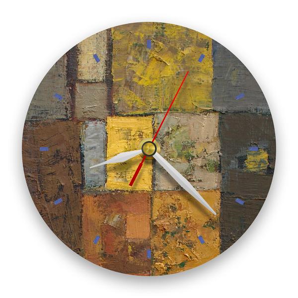 Ceas de perete - Abstract, labirint cu verde 0