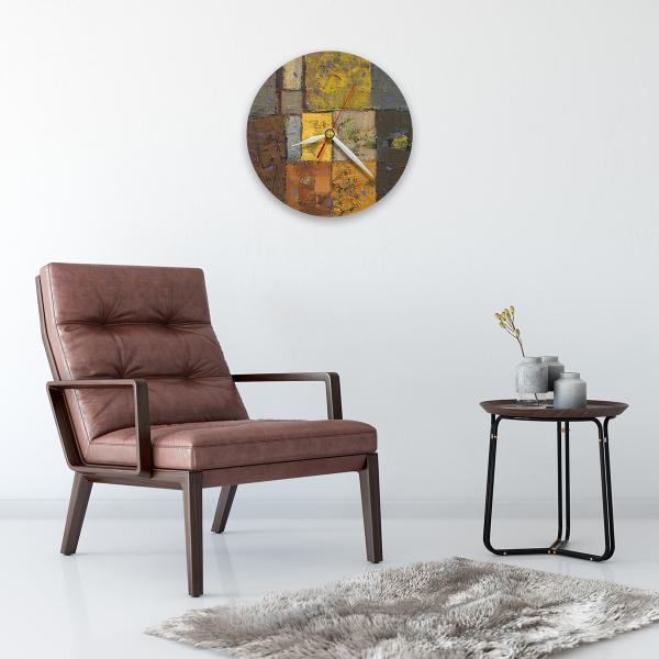Ceas de perete - Abstract, labirint cu verde 1