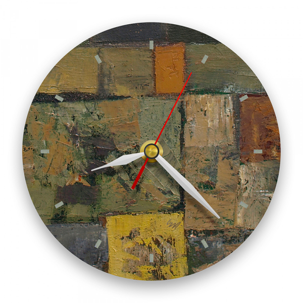 Ceas de perete - Abstract, labirint multicolor 0