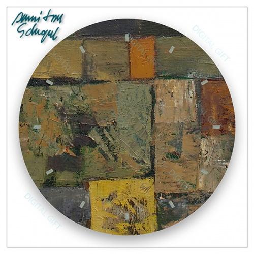 Ceas de perete - Abstract, labirint multicolor 1