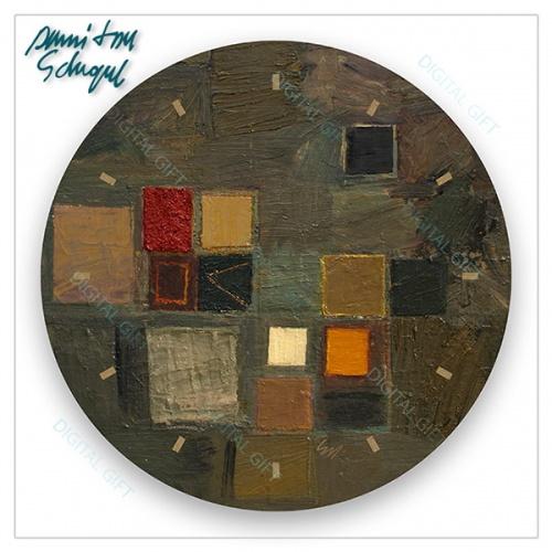 Ceas de perete - Abstract, ritm de toamnă 1