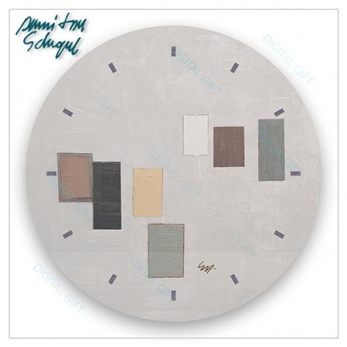 Ceas de perete - Abstract, ritm pe gri 1