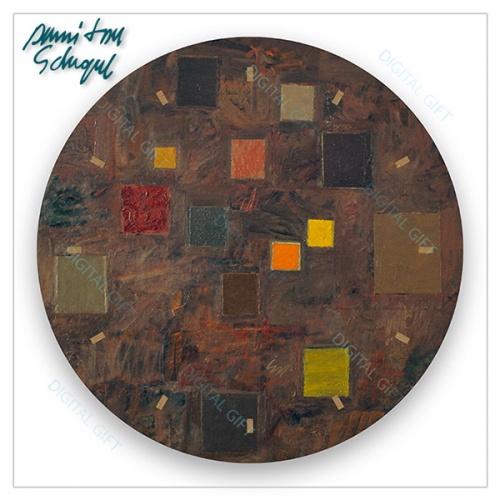 Ceas de perete - Abstract, ritm pe maro 1