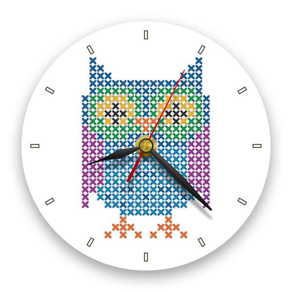 Ceas de perete - Bufnița 0