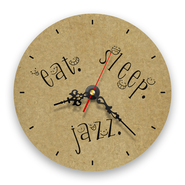 Ceas de perete - Eat, Sleep, Jazz 0