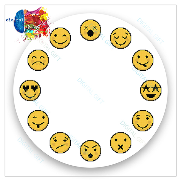 Ceas de perete - Emoji 2