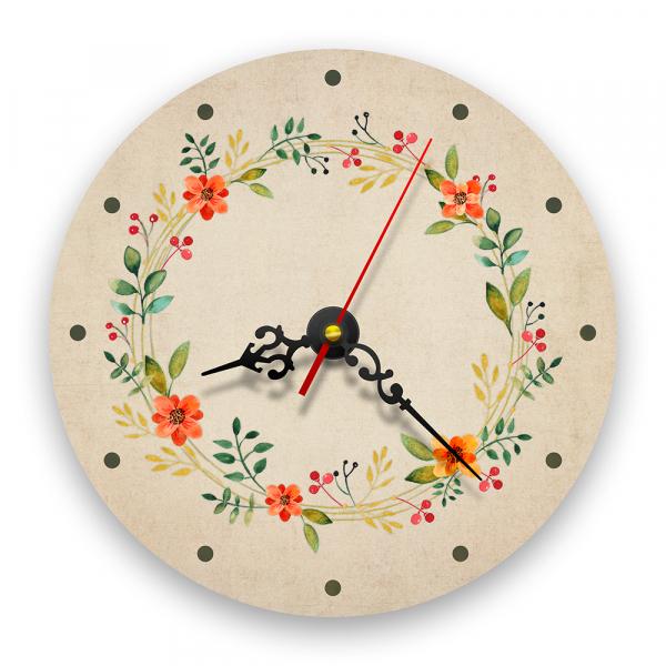 Ceas de perete - Flori de câmp retro 0