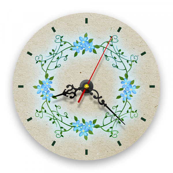 Ceas de perete - Flori de nu mă uita retro [0]