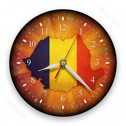 Ceas de perete - Harta României 0