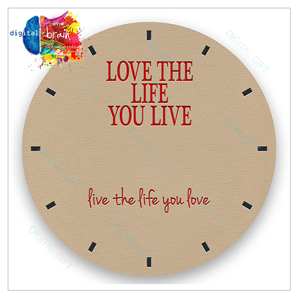 Ceas de perete - Love the life 2