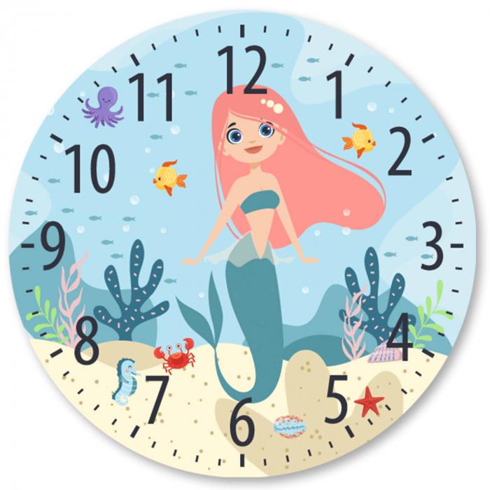 Ceas decorativ de perete - Mica sirena 2