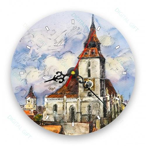 Ceas de perete - Peisaj din Brașov 0