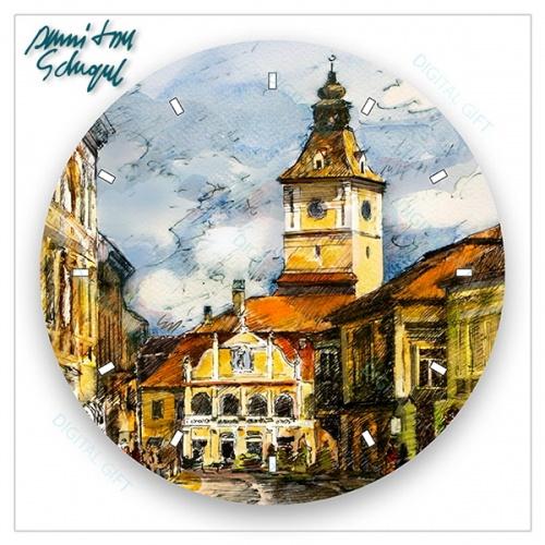 Ceas de perete - Piața Sfatului, Brașov 1