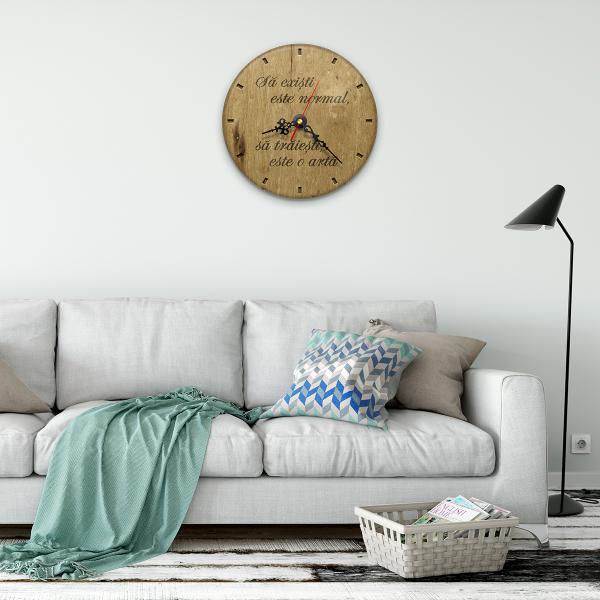 Ceas de perete - Să trăiești e o artă 1