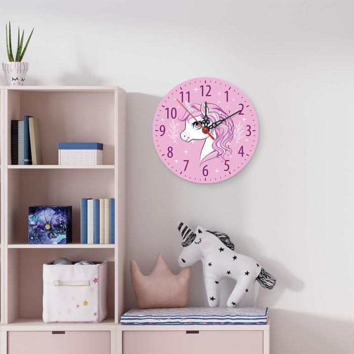 Ceas decorativ de perete - Sunt un unicorn [1]