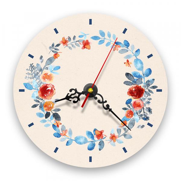 Ceas de perete - Trandafiri în acuarelă 0