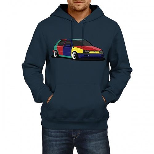Hanorac unisex - VW Golf 3 Harlequin 0
