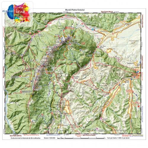 Hartă și broșură - Trasee turistice. Microregiunea Bucegi [2]