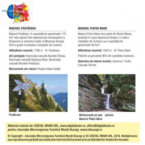 Hartă și broșură - Trasee turistice. Microregiunea Bucegi 3