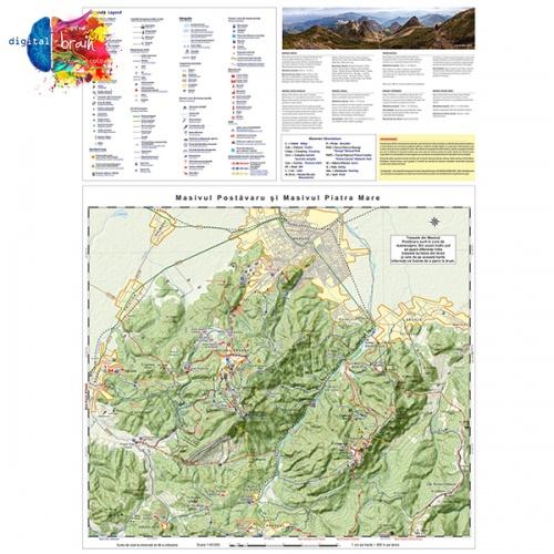 Hartă și broșură - Trasee turistice. Microregiunea Bucegi 1