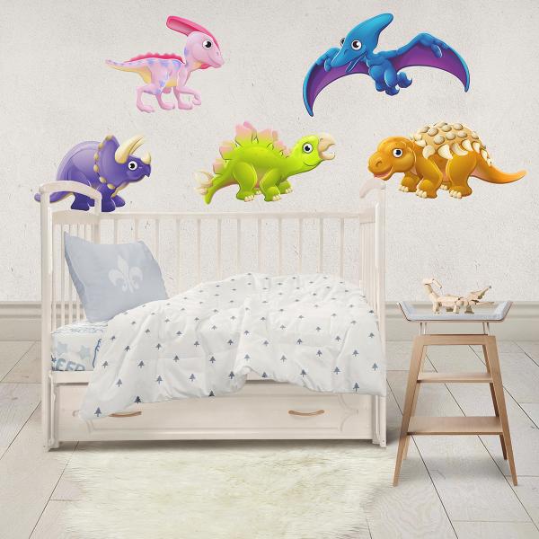 Sticker decorativ perete - Dinozauri animati 0