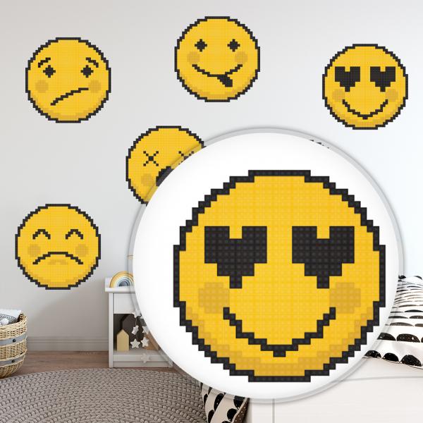 Sticker decorativ perete - Emoji 01 1