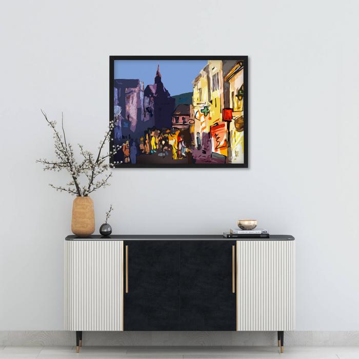 Poster abstract - La promenadă în Brașov [1]