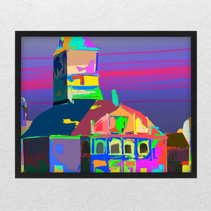 Poster abstract - Piața Sfatului în culori [0]