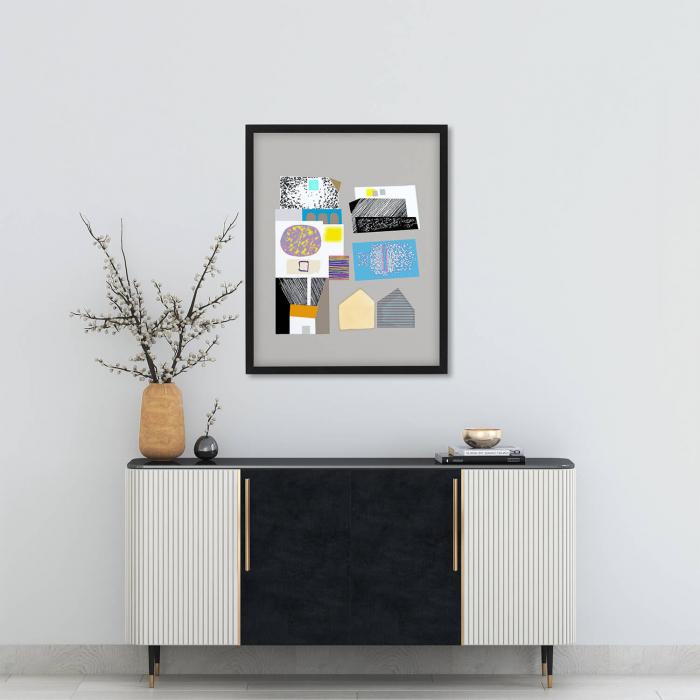 Poster - Brașov, compoziție abstractă 01 1