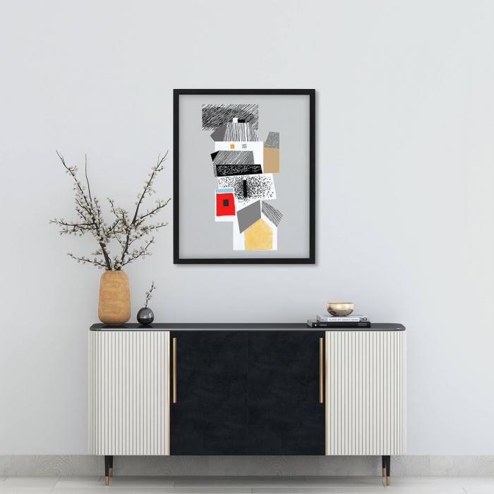 Poster - Brașov, compoziție abstractă 04 [1]