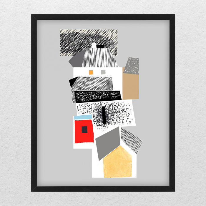 Poster - Brașov, compoziție abstractă 04 [0]