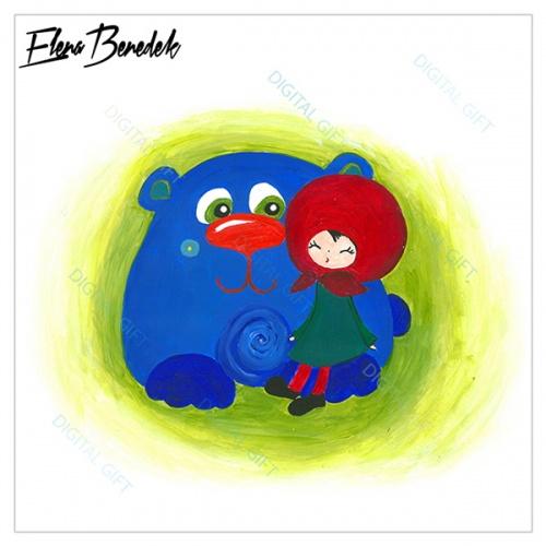 Poster - Fetița cu ursul 1