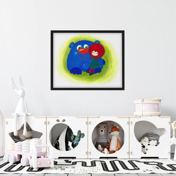 Poster decorativ pentru copii - Fetita cu ursul [1]
