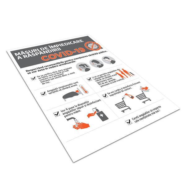"""Poster informativ Covid-19 - """"Măsuri de protecție pentru angajați"""" 2"""