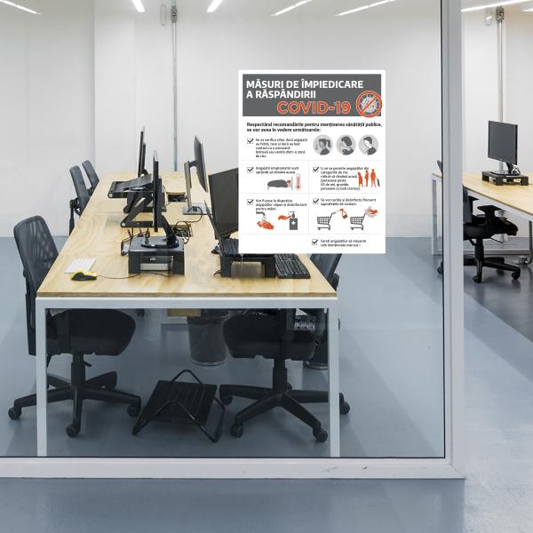 """Poster informativ Covid-19 - """"Măsuri de protecție pentru angajați"""" 1"""
