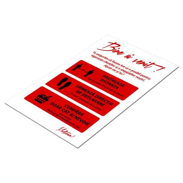 """Poster informativ Covid-19 - """"Recomandări pentru clienți"""" 2"""
