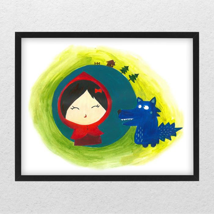 Poster decorativ pentru copii - Scufita rosie [0]